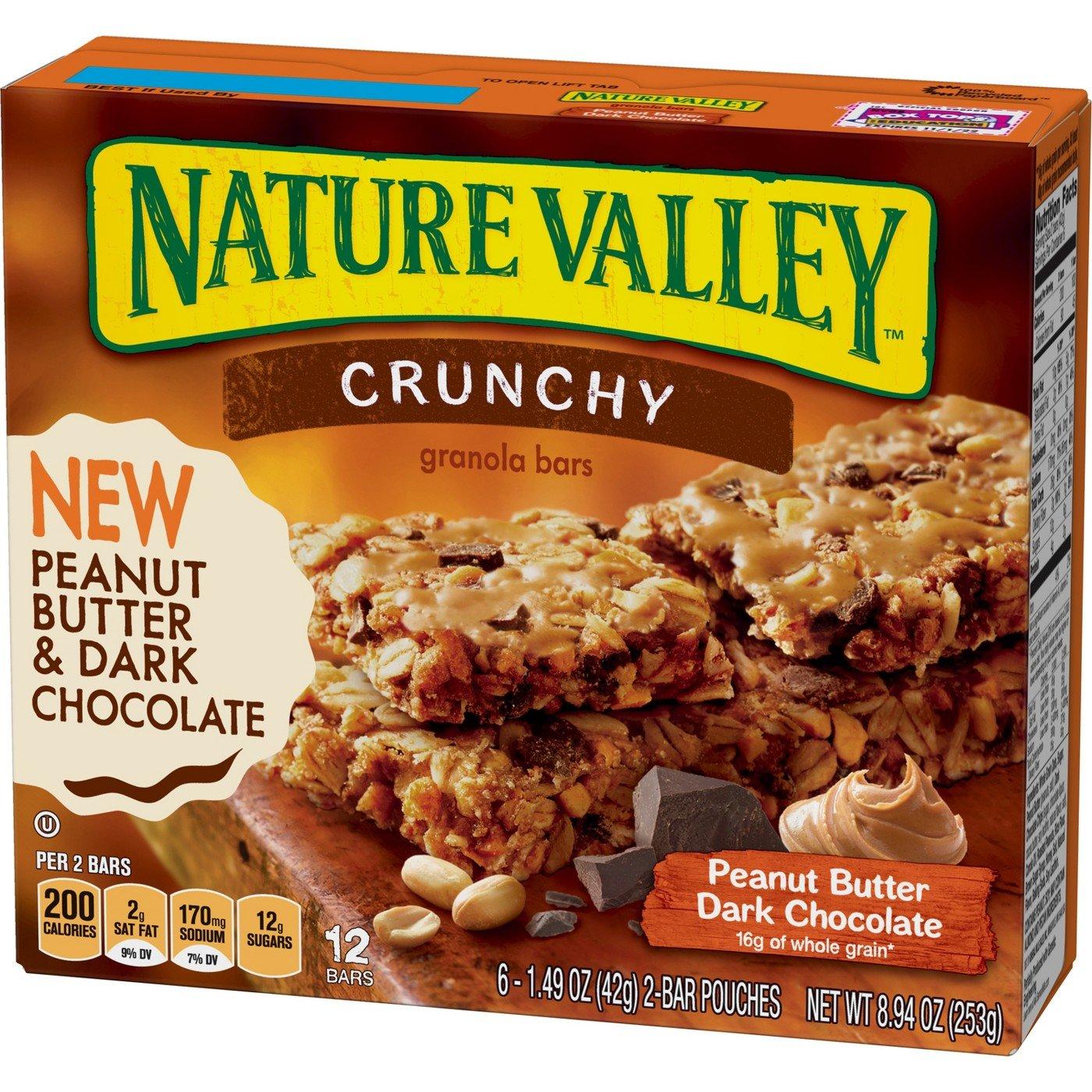 Nature Valley Peanut Butter Dark Chocolate Crunchy Granola Bars - 8.94oz, pack of 1