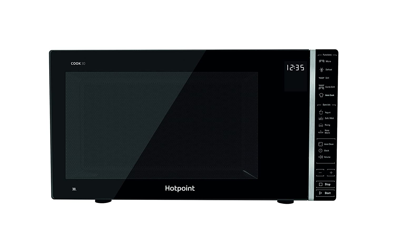 Hotpoint MWH 303 B Cook 30 Grill Microwave, 900 W, 30 liters, Black