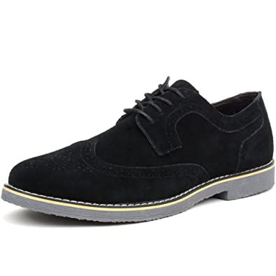 Amazon.com | Alpine Swiss Men's Beau Dress Shoes Genuine Wing Tip ...