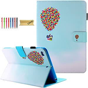 Dteck iPad Mini Case, Mini 5 Case 2019 Model, Slim Premium PU Leather Folio Stand Wallet Cover Smart Auto Wake/Sleep Magnet Cases and Covers for iPad Mini 5/4/3/2 (7.9 inch) Tablet, Flying House