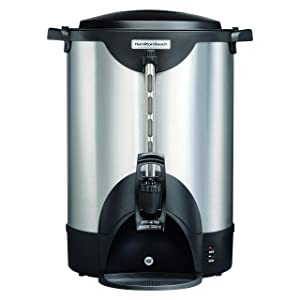 Hamilton Beach Commercial 75 Cup Stainless Steel Coffee Urn, Double Wall Insulated, 120V (HCU075S)