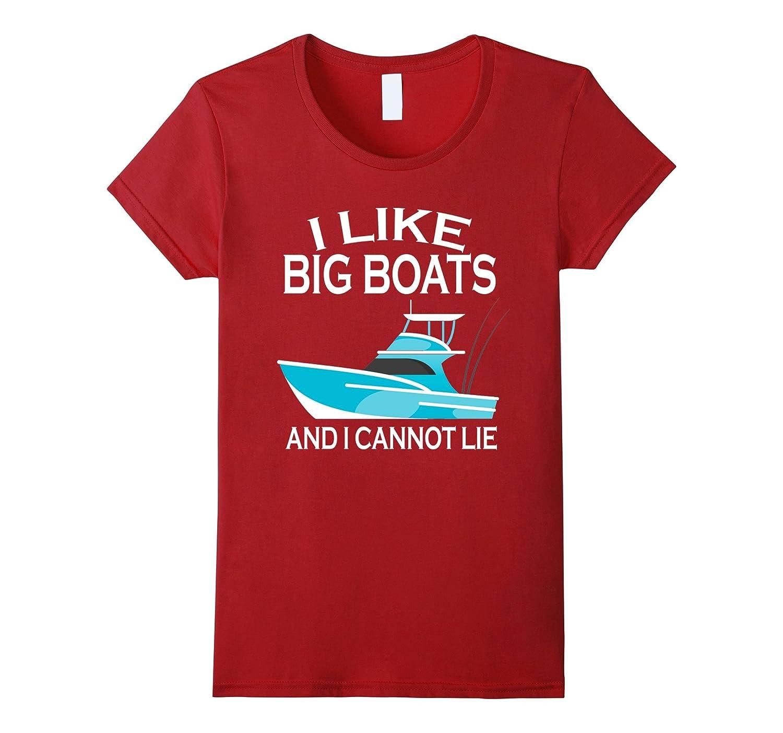 Womens Boats Cannot T Shirt Large-Tovacu