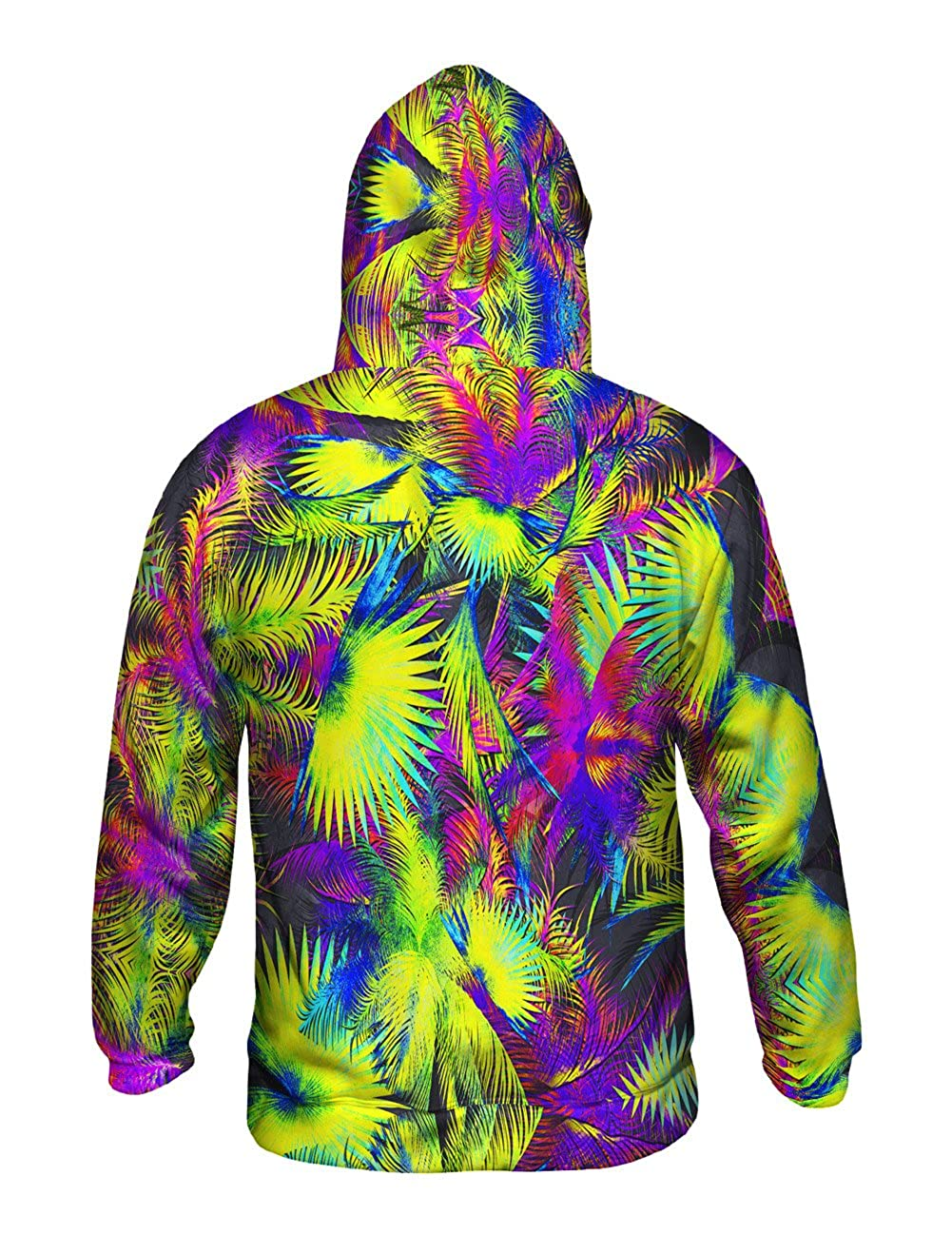 Mens Hoodie Sweater Neon Palm Jungle Yizzam Allover Print
