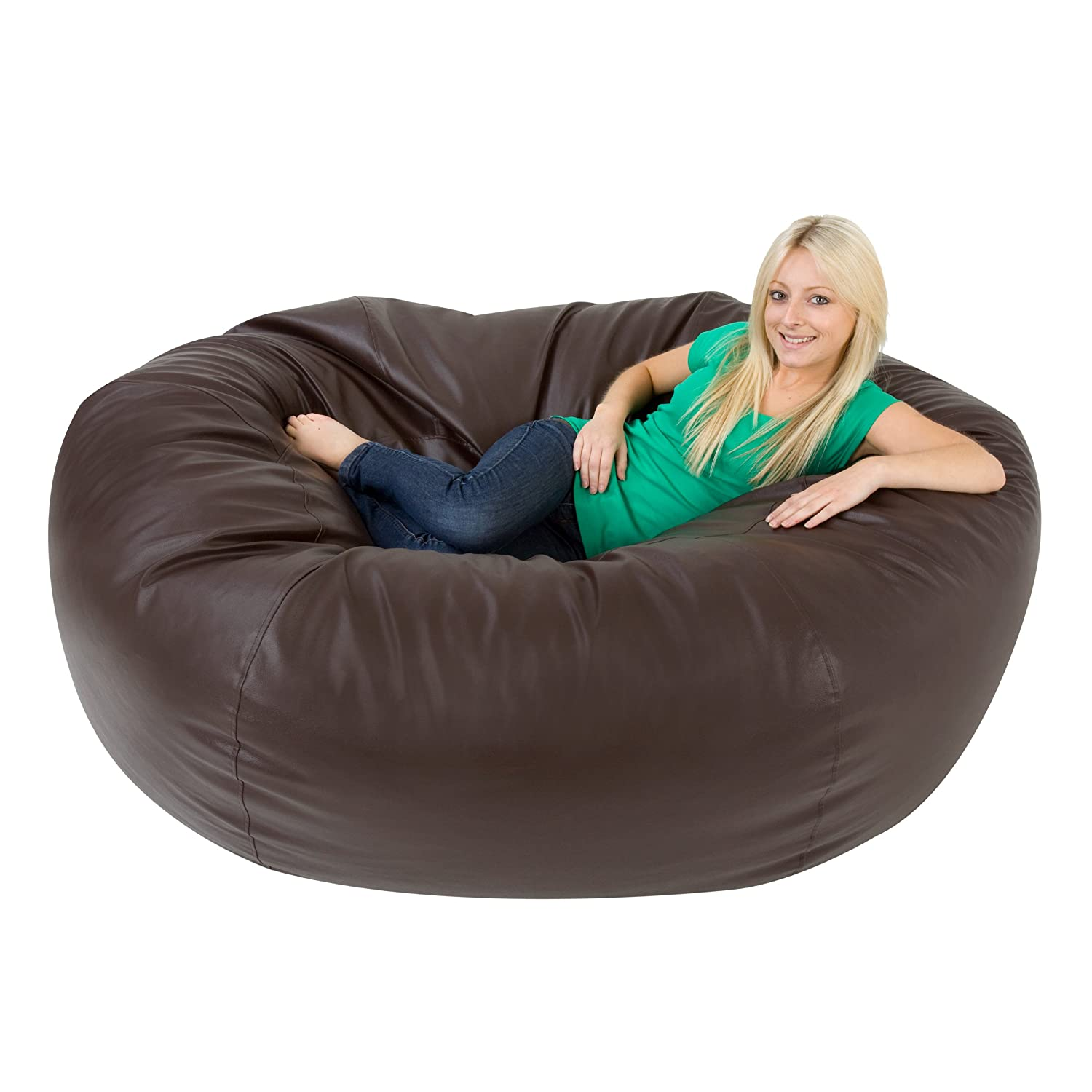 XXXL Bean Bag MONSTER Double Faux Leather BROWN Giant Bean Bags