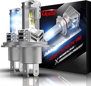 KATANA Fanless H4 LED Headlight Bulbs | Wireless 9003 All-in-One Conversion Kit | PHI Chips 12000LM Super Bright 6500K Xenon White