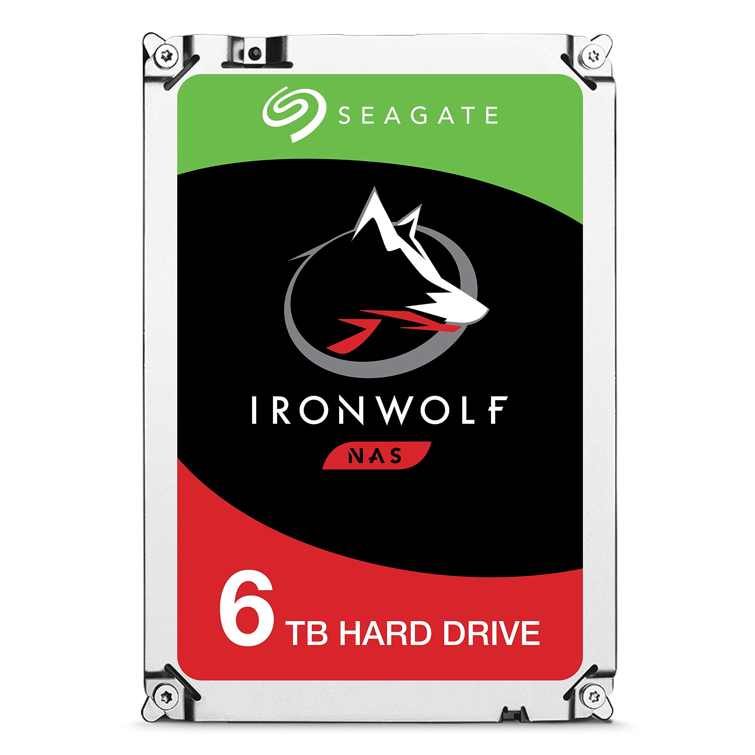 Seagate Ironwolf 6 TB NAS RAID Internal Hard Drive - 7,200 RPM SATA 6 Gb/s 3.5-inch - Frustration Free Packaging  (ST6000VN0033) by Seagate (Image #1)