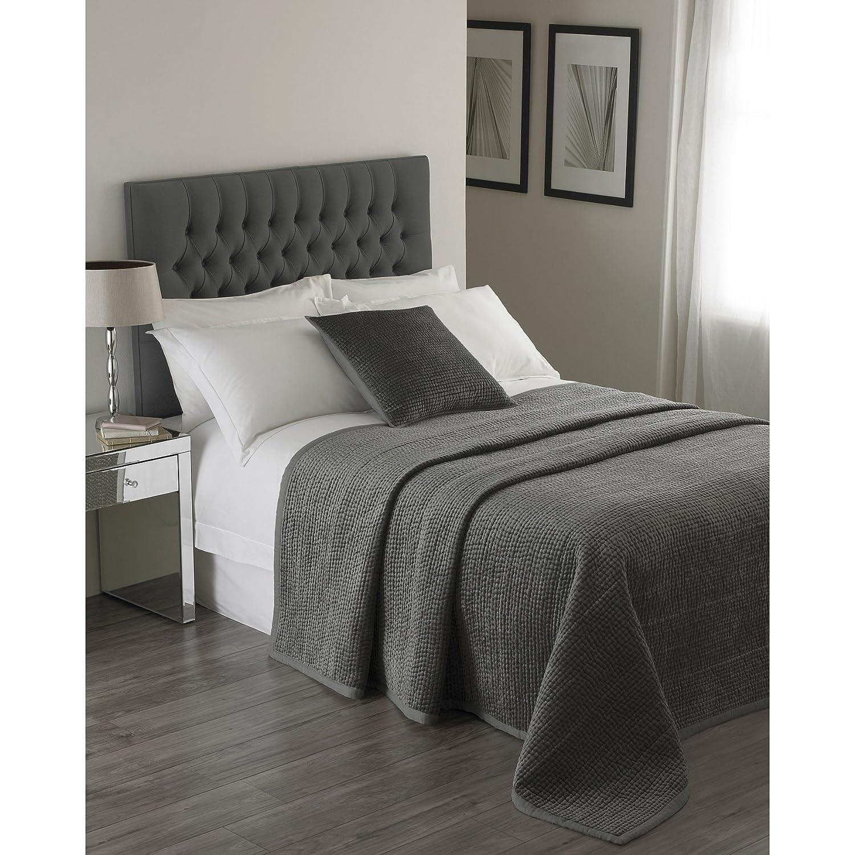 (リーヴァホーム) Riva Home ブルックランズ ベッドスプレッド 装飾用ベッド掛け インテリアのアクセント おしゃれ (265x265cm) (グラファイト) B076V2WRBM グラファイト 265x265cm