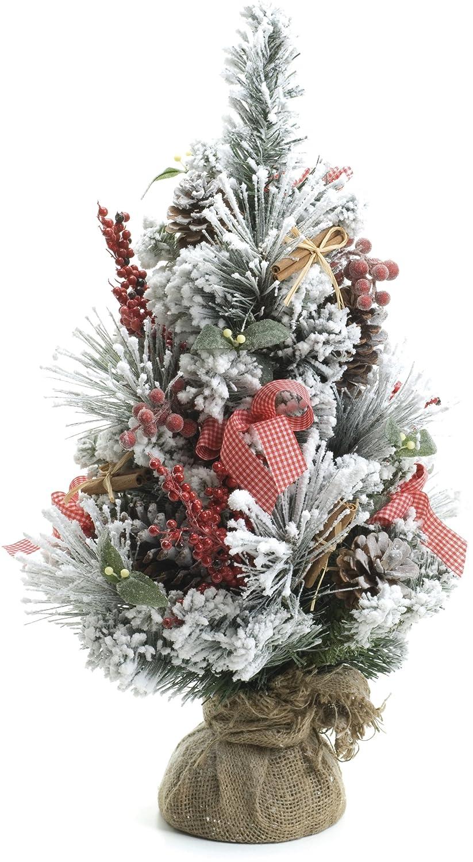 Albero di natale luce 60 centimetri alto decorazioni colorate ...