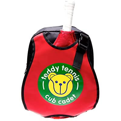 Teddy niños mochila Bolsa para raquetas de tenis, color rojo/negro, ideal para niños de 3 - 6 años.: Deportes y aire libre