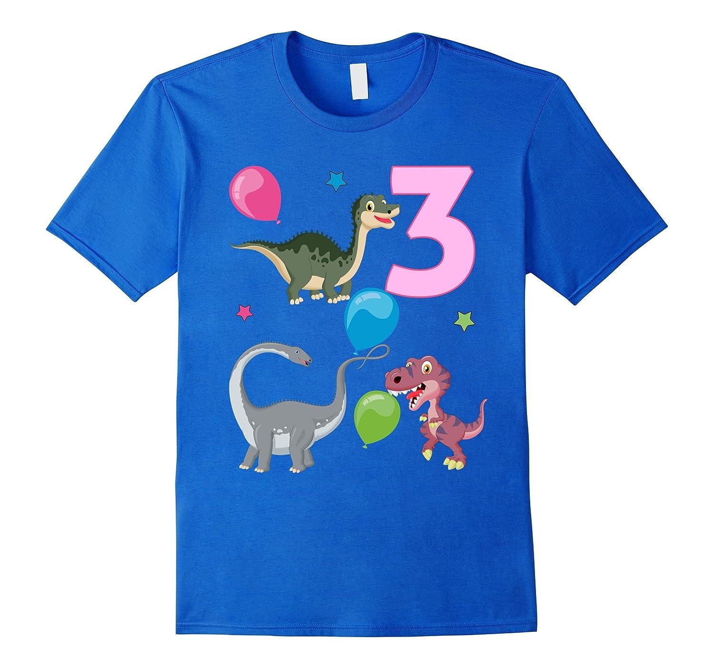 Dinosaur 3rd Birthday Cute Dinos Toddler T-Shirt-ANZ