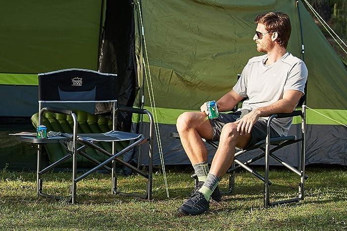 Timber Ridge Director's Chair Folding Aluminum Camping Portable Lightweight Chair