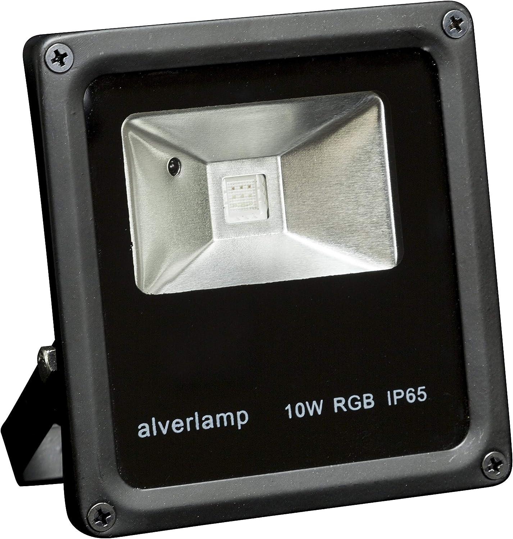 Alverlamp LPRO10RGB - Proyector led rgb+mando 10w: Amazon.es ...