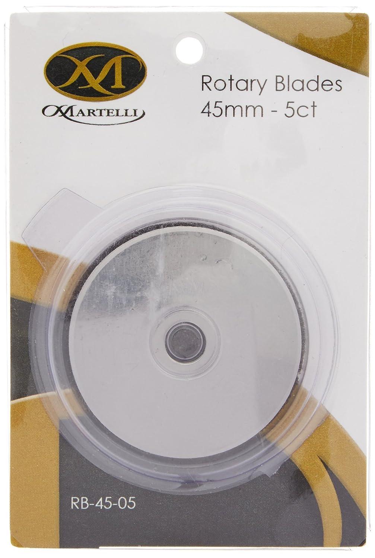 Martelli EC007 45mm Rotary Cutter Refill Blades, 5 Per Package