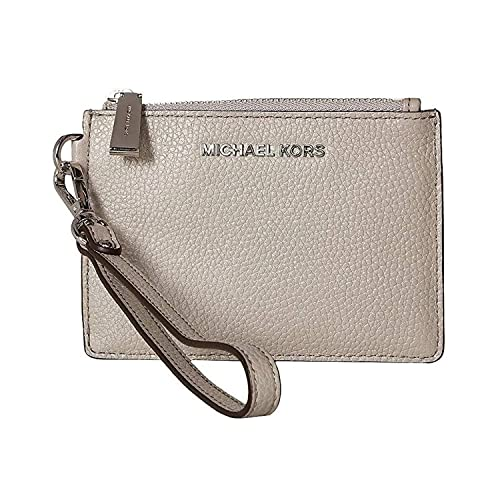 6f237f842ea3 Amazon.com: MICHAEL Michael Kors Mercer Small Pebbled Leather Wallet, Color  081 Pearl Grey: Shoes