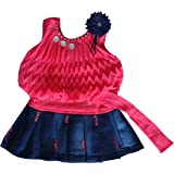 FM Cute Fashion Baby Girls Princess Party Wear Plating Midi Skirt(Ba200121_tomato_16_Tomato_3-6 Months)