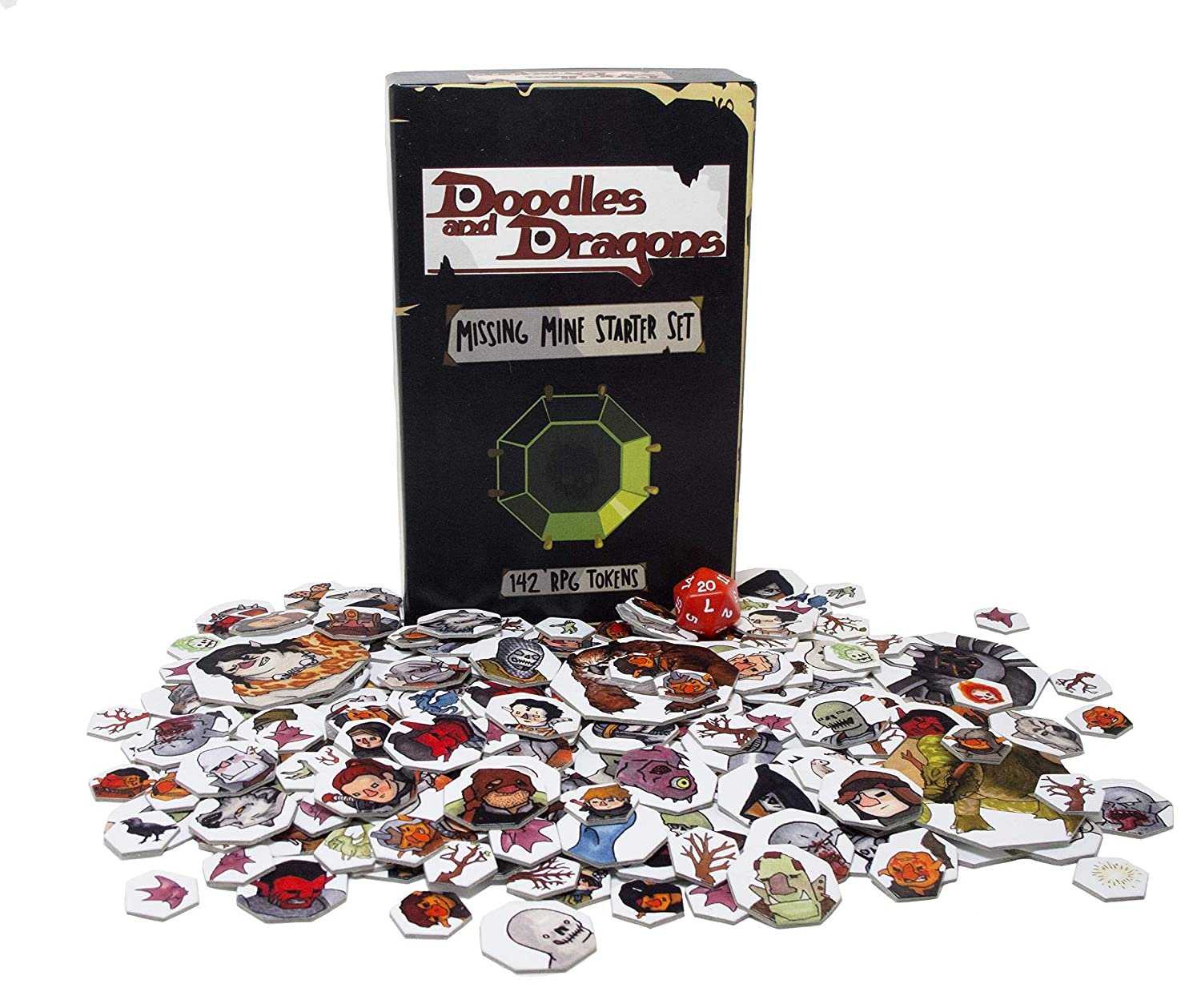 Doodles and Dragons Missing Mine Starter Set - Every PC, NPC, and Monster  and More Needed for The Official 5E D&D Starter Set Campaign ( 142 Unique