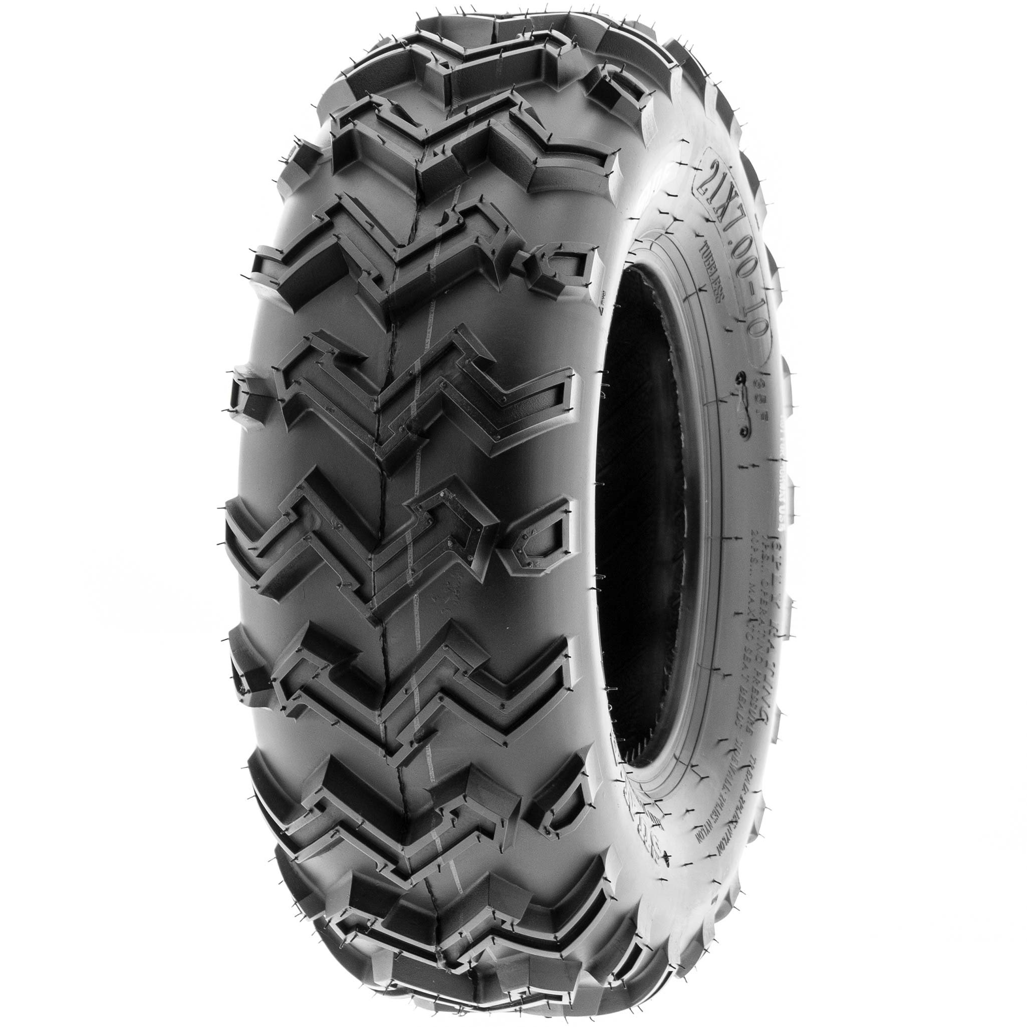 SunF 21x7-10 21x7x10 ATV UTV All Terrain Race Replacement 6 PR Tubeless Tires A001, [Set of 2] by SunF (Image #8)