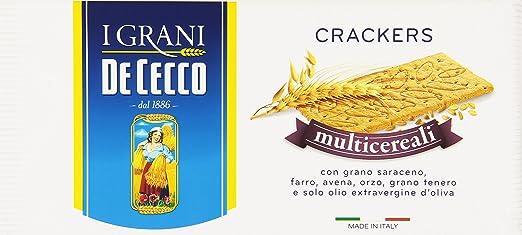 6 opinioni per De Cecco- Crackers Multicereali- 3 confezioni da 250 g [750 g]