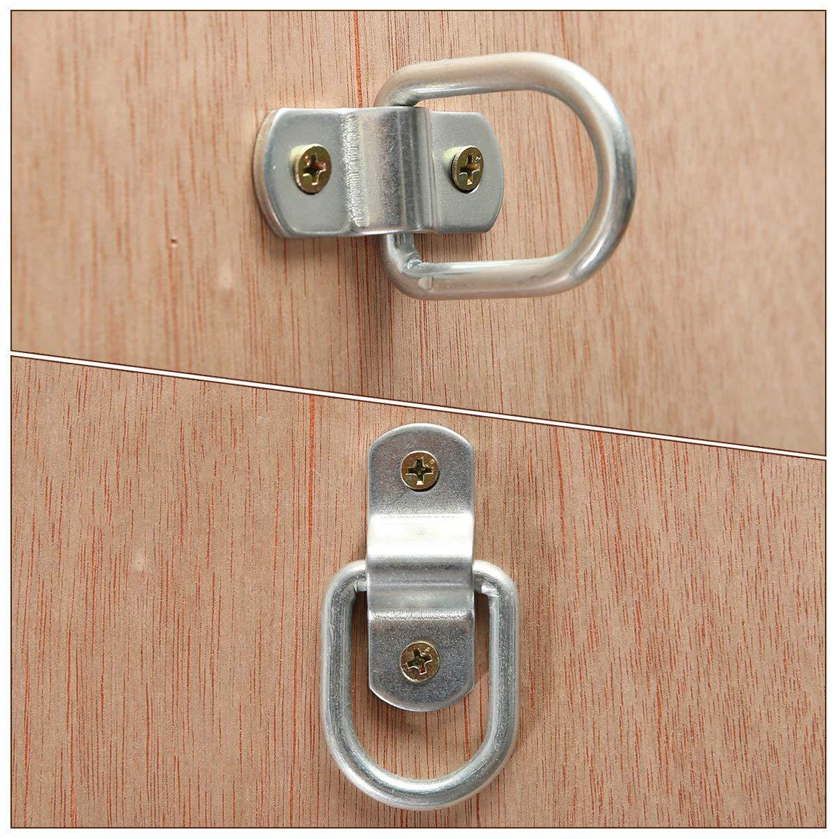 SODIAL Zurroese Aufbauring Ring Hook Zurring 8 PZ Che Flagellazione per Barca del Camion di Rimorchio