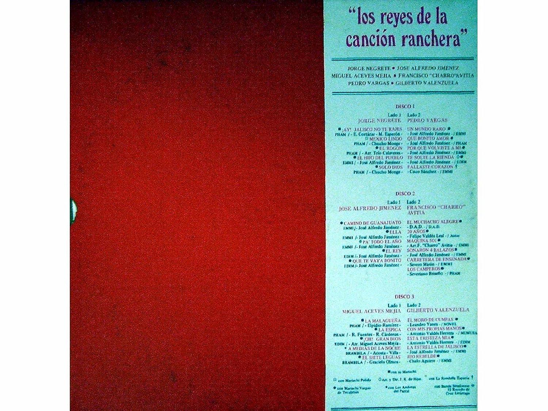 jose alfredo jimenez, miguel aceves mejia, francisco charro avitia, pedro vargas, gilberto valenzuela jorge negrete - Los Reyes De La Cancion Ranchera ...