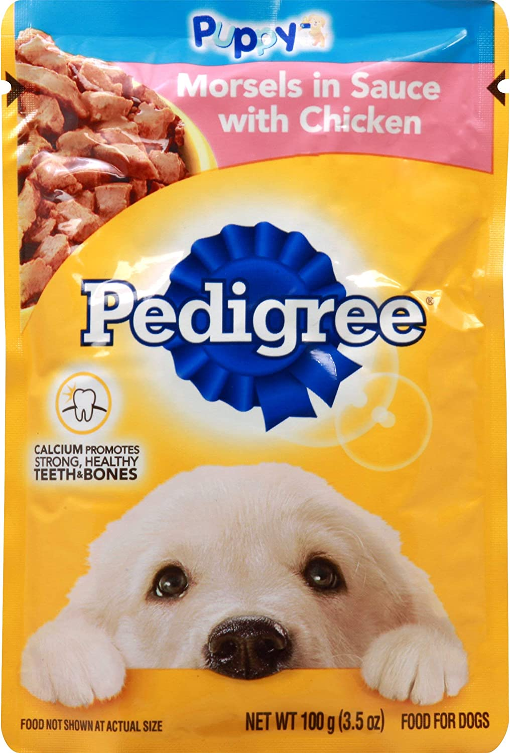 PEDIGREE Chicken Wet Dog Food Morsel in Sauce 3.5 OZ - 0023100119051