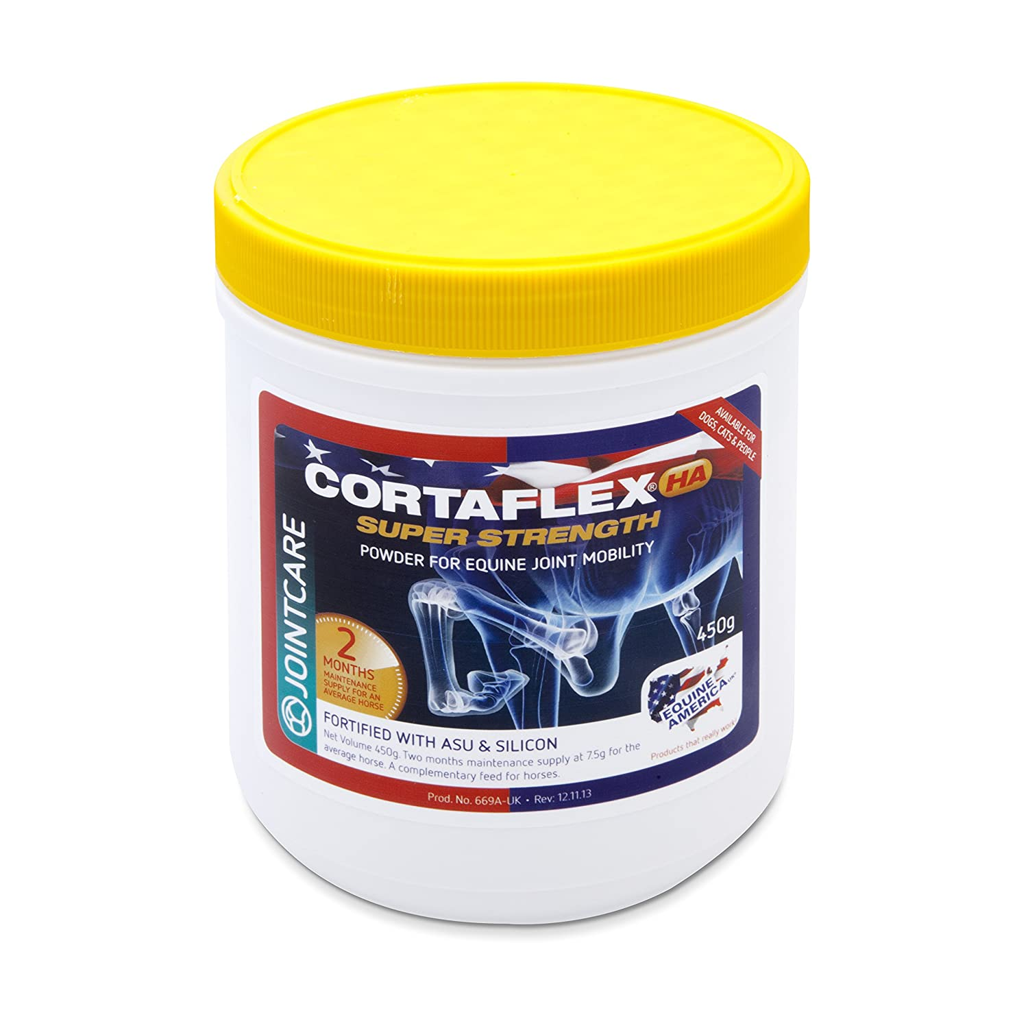 Equine Cortaflex Powder with HA Yellow Top (Pack Size  450g)