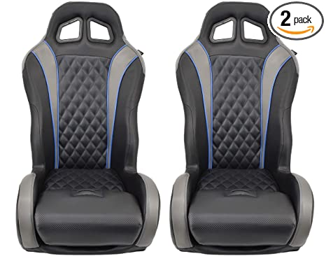 Excellent Polaris Rzr Suspension Seats Bucket Seats Pair Blue Theyellowbook Wood Chair Design Ideas Theyellowbookinfo
