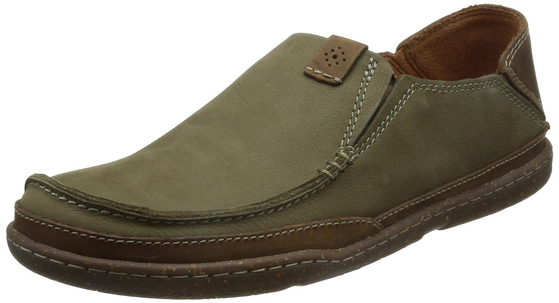 Clarks Trapell Form - Zapatos Casual (Sin Cordones), Hombre 44 EU|Verde (Olive Nubuck)