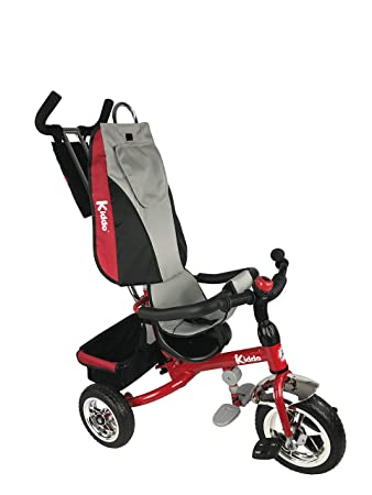 Kiddo 2016 Red Smart Design 4-in-1 Childrens Tricycle Kids Trike 3 Wheel Bike Parent New (Red) by Kiddo by Raygar: Amazon.es: Juguetes y juegos