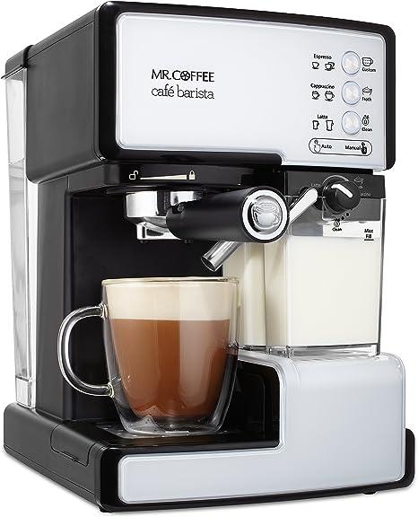 Amazon Com Mr Coffee Cafe Barista Espresso And Cappuccino Maker White Kitchen Dining