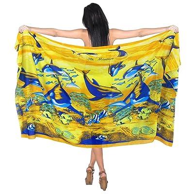 *La Leela* dauphin couvrir robe jupe portefeuille sarong pareo plage femmes 69x42 pouces