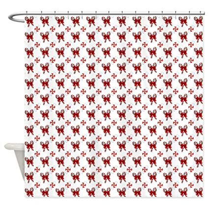 CafePress Christmas Candy Cane Shower Curtain Decorative Fabric 69quot