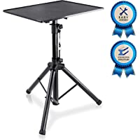 "Pyle Laptop Projector Stand, Heavy Duty Tripod Height Adjustable 28"" To 41"" For DJ Presentations Notebook Computer"