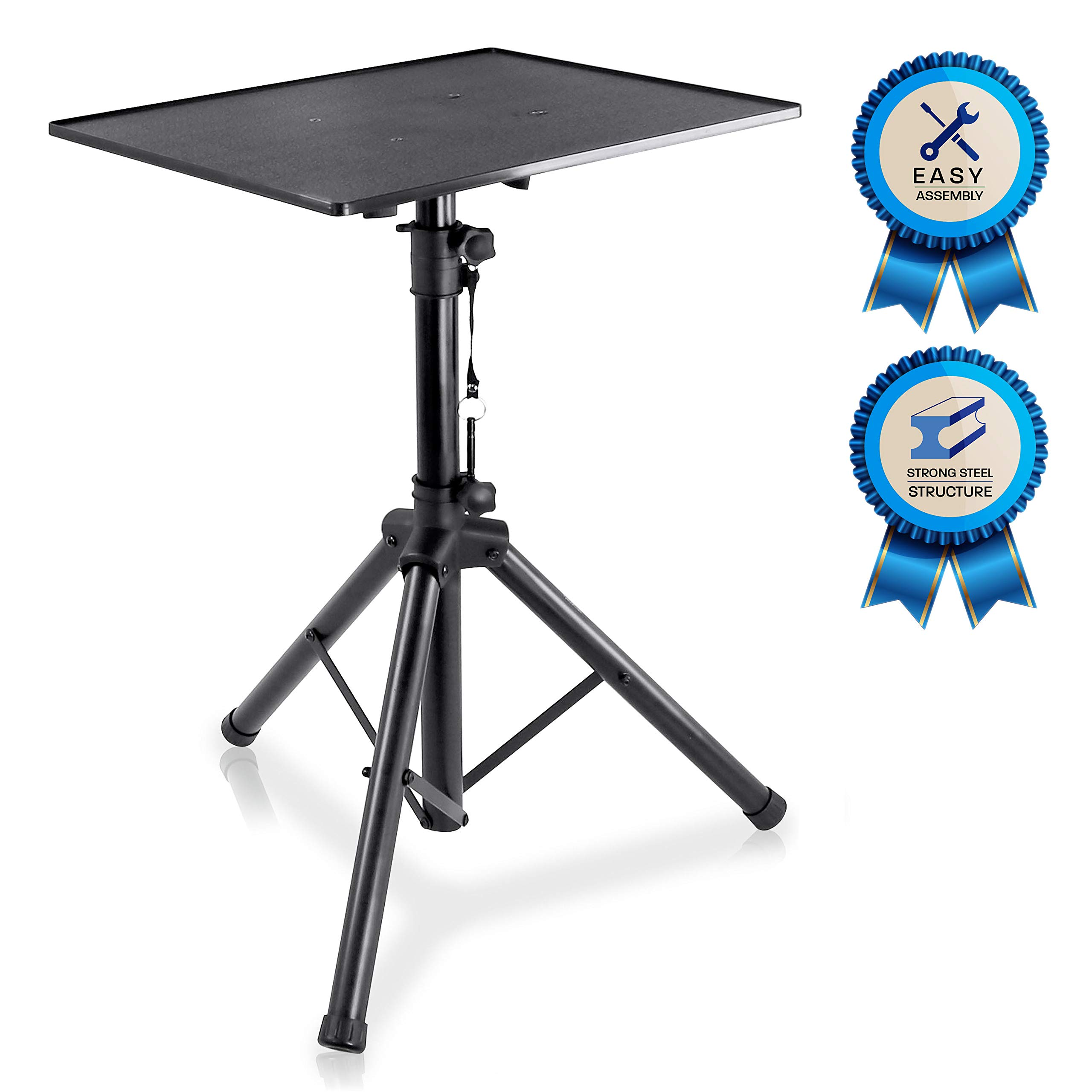 Pro DJ Laptop, Projector Stand - Adjustable Laptop Stand, Computer DJ Equipment Studio Stand Mount Holder, Height Adjustable, Laptop Projector Stand, 23'' to 41'', Good For Stage or Studio - Pyle  (PLPTS3) by Pyle