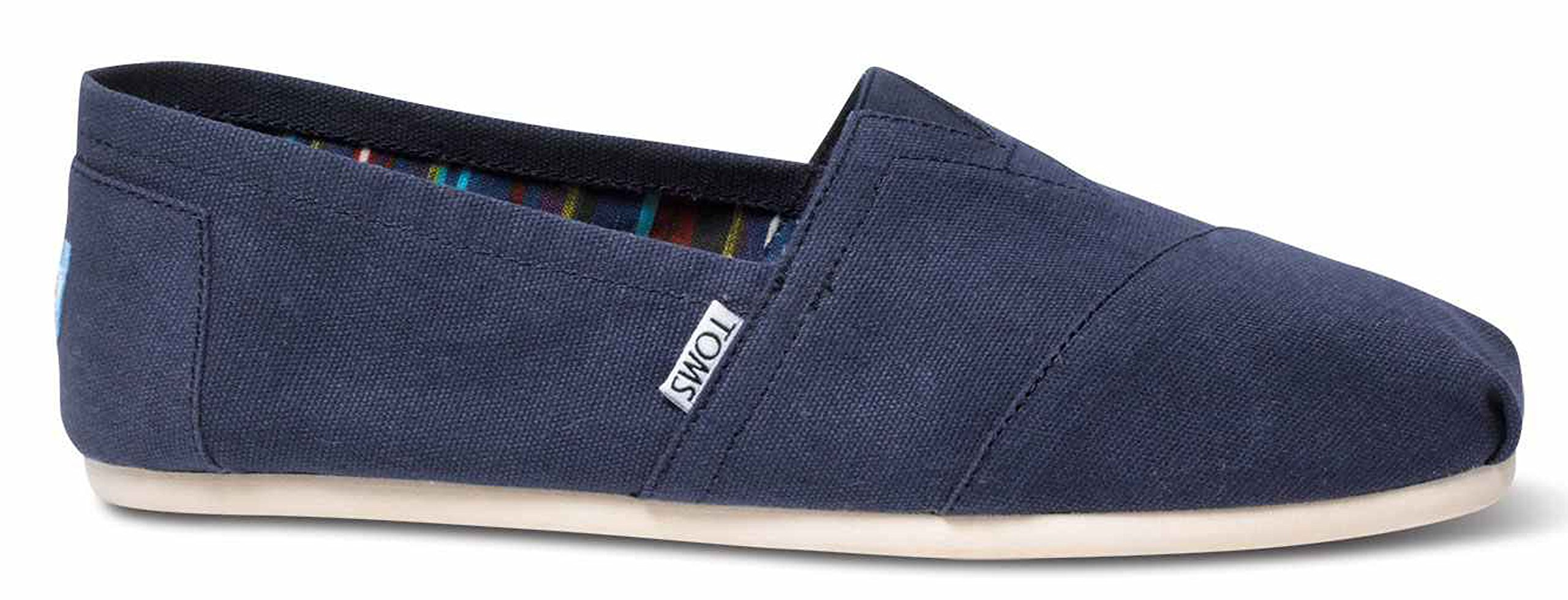TOMS Ash Canvas Classic Men 001001A07-RED,Size 8.5 US (8 D(M) US / 41 EUR, Navy)