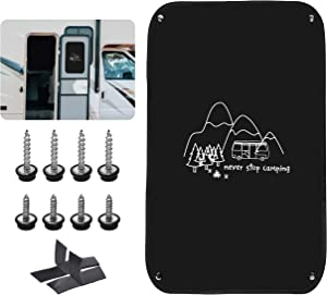 RVINGPRO RV Door Window Shade, 16 Inch X 24.75 Inch Camper Door Window Cover, Privacy Protector, UV Rays Protection, Never Stop Camping