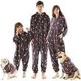 Family Christmas Matching Onesies Pajamas, Flannel Pjs Sets Xmas Winter Nightwear Sleepwear for Womens Mens Girls Boys…