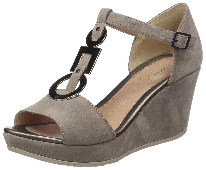 TALLA 38 EU. Stonefly Marlene II 11 Velour, Zapatos con Tacon y Tira Vertical para Mujer