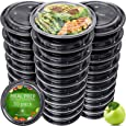 Meal Prep Containers [30 Pack] - Reusable Plastic Containers with Lids - Disposable Food Containers Meal Prep Bowls - Plastic Food Storage Containers with Lids - Lunch Containers by Prep Naturals