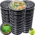 Meal Prep Containers - Reusable Plastic Containers with Lids - Disposable Food Containers Meal Prep Bowls - Plastic Food Stor