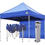 Eurmax 10x10 Blue Outdoor Easy Pop up Canopy Instant Shade