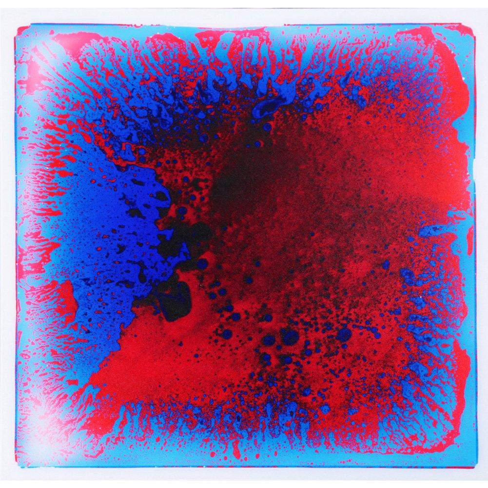 Art3d Liquid Dance Floor Colorful Home Decor Tile, 12'' x 12'' Blue-Red (9 Tiles)