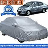 Autofact Premium Silver Matty Triple Stitched Car Body Cover with Mirror Pocket for Honda City Zx (2004 to 2008)