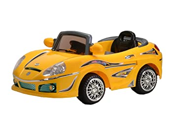 best ride on cars 698r 6v kids convertible yellow