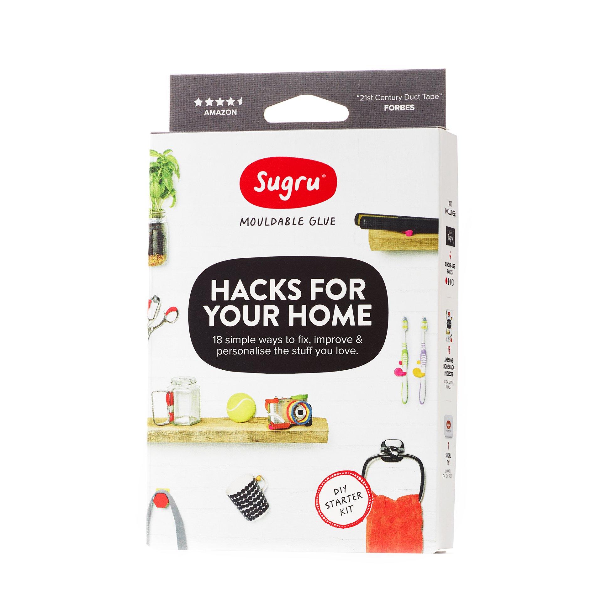 Sugru SHOMEKIT01 Hacks for Your Home Kit, Black, White, Grey and Red 4 Piece