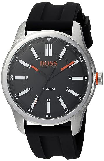 c6ac56088e0c HUGO BOSS Men s 1550042 Sport 44mm  3h  5atm  Ss Case Black Rubber Strap  Watch  Amazon.ca  Watches