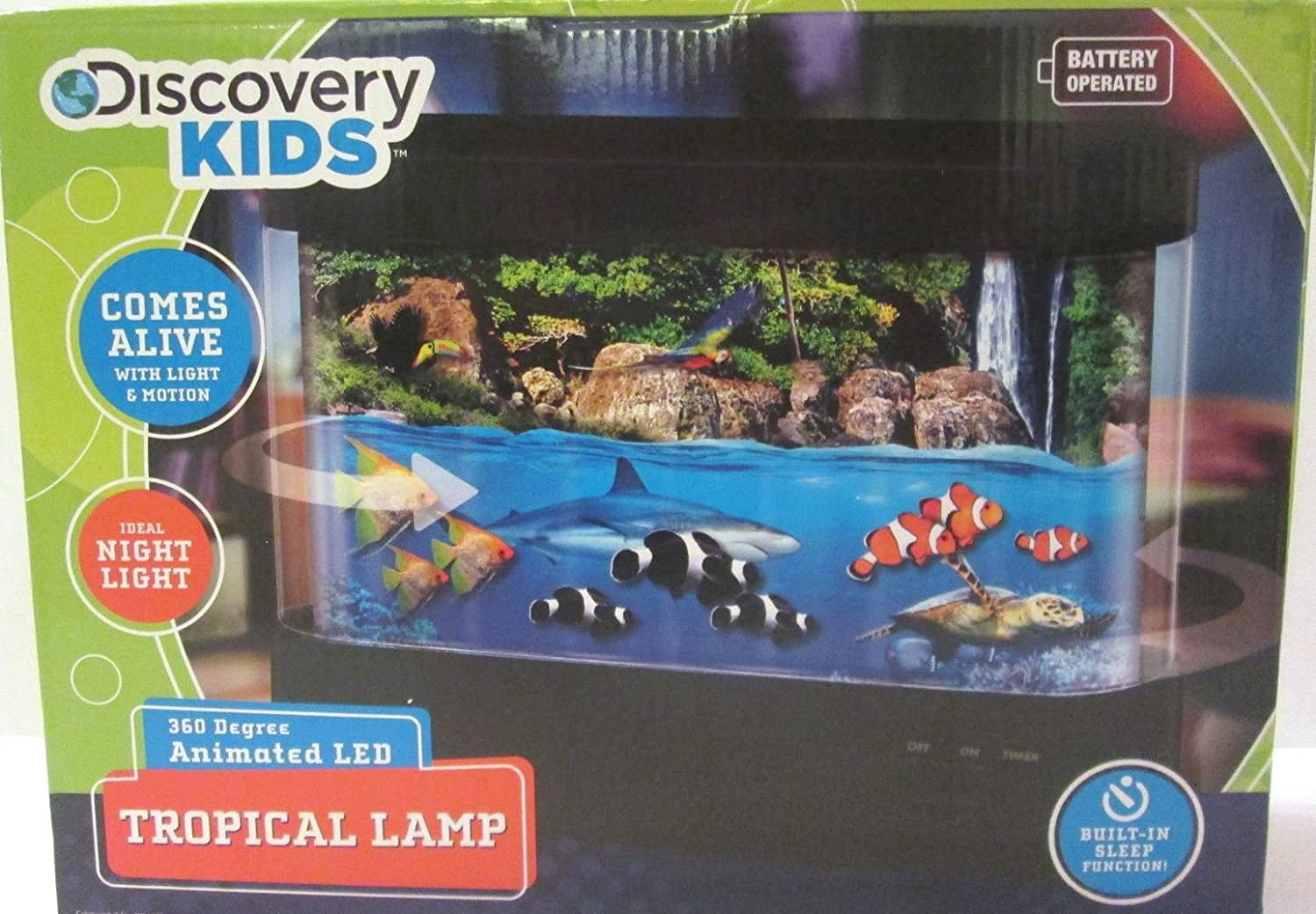 Amazon.com: Discovery Kids Animated Tropical Lamp With LED Lamp: Toys U0026  Games