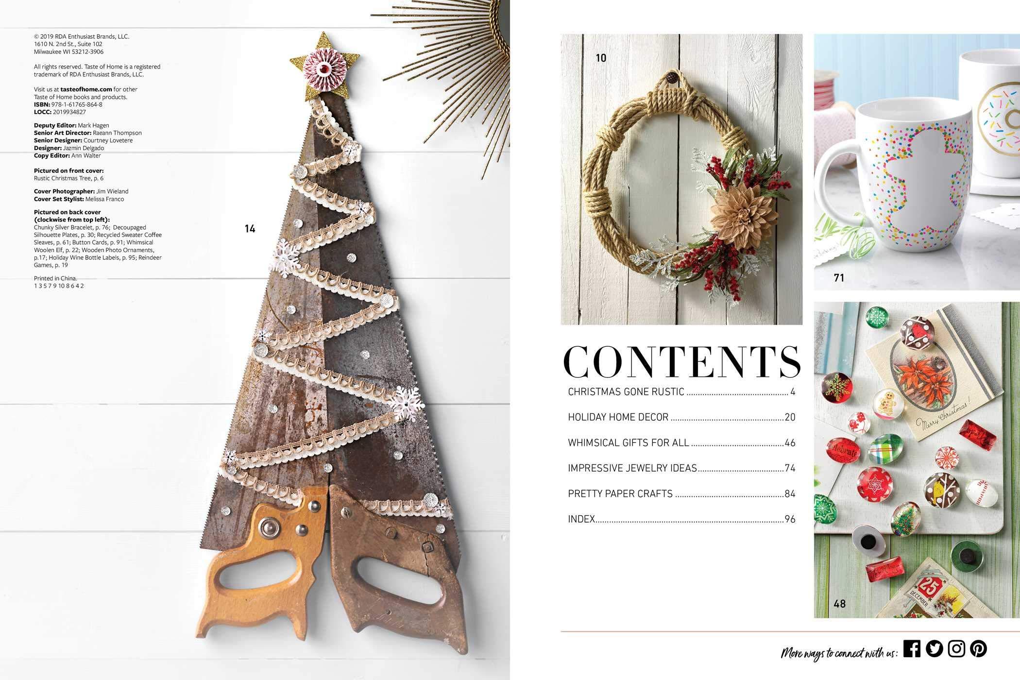 Taste Of Home Christmas 2021 Taste Of Home Handmade Christmas Taste Of Home 9781617658648 Amazon Com Books