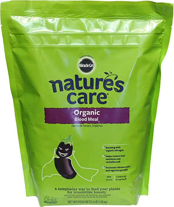 Miracle-Gro 100126 Nature's Care Organic Blood Meal1, 3 lb, Green