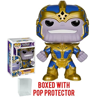 Funko Pop! Guardians of The Galaxy - Thanos 6-Inch Vinyl Figure (Bundled with Pop Box Protector CASE): Toys & Games